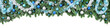 Leinwanddruck Bild - Rand aus Tannenzweigen, dekoriert mit kühlen Farben