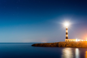 Artrutx Lighthouse in Minorca, Spain.