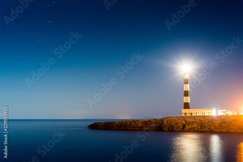 Foto Murales Artrutx Lighthouse in Minorca, Spain.