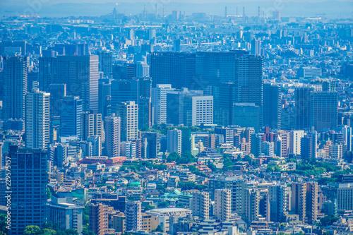 六本木ヒルズ展望台からの都市風景