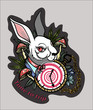 Rabbit from Alice in Wonderland, tattoo - 229588346