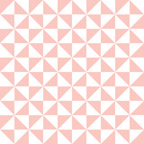 Geometric pattern with pink and white triangles. Geometric modern ornament. Seamless abstract background - 229601798