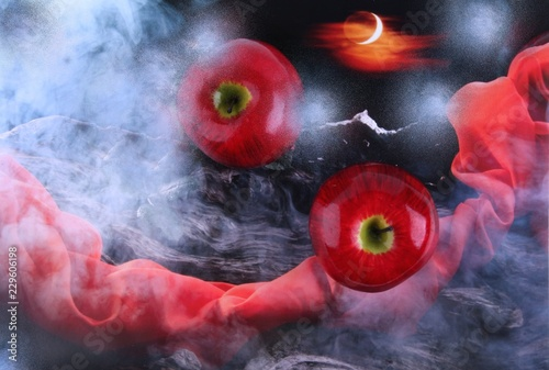 Äpfel-Abstrakt - 229606198
