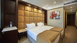 Two beds in a hotel room. Interior design - 229609752
