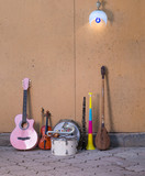 street musician beggar