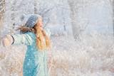 Child walking at winter park - 229615555