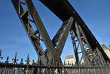 Pont métallique à Paris, France