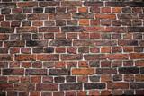 red (orange) brick wall background, horizontal wide brick wall.