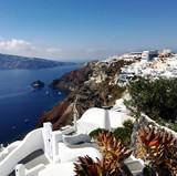 view of Oia, santorini greece