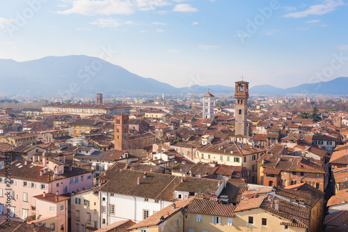 Lucca view from Guinigi Tower.