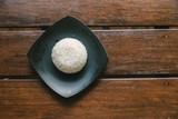 plate full of rice on white - 229665949