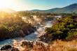 Leinwanddruck Bild - Epupa Falls on the Kunene River in Namibia