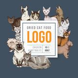 Cat food emblem - 229708173