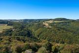 Blick in die hügelige Landschaft der Eifel - 229710321