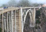 Bixby Creek Bridge in the summertime fog, California