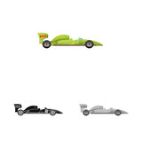 Isolated object of car and rally symbol. Collection of car and race stock symbol for web. - 229713554