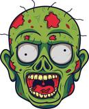 Cartoon zombie head  - 229715579