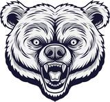 Angry bear head mascot - 229715966