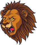 Angry lion head mascot - 229716378