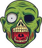 Cartoon zombie head  - 229717500
