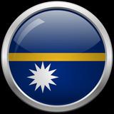Nauru's flag glass button vector illustration