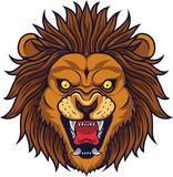 Angry lion head mascot - 229717953