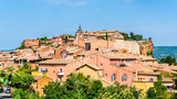 View of Roussillon, a famous town in Provence, France