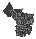 Bristol City Map England UK labelled black illustration