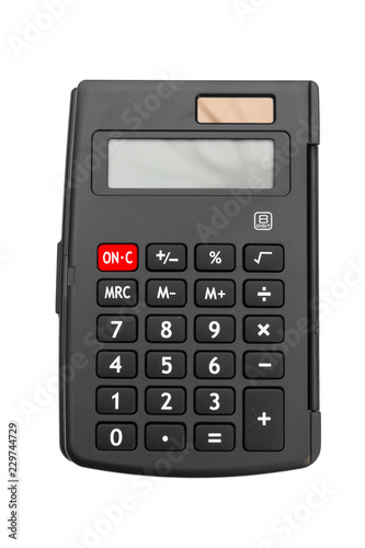 Calculator on white background - 229744729