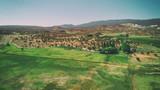 Aerial view of open countryside in Torrey, Utah - 229756383