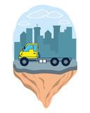 Cargo truck vehicle - 229778710