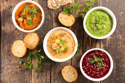 assorted dip and spread