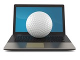 Golf ball with laptop