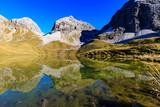 Rappensee mit Blick auf Gipfel Hohes Licht und Heilbronner Höhenweg - 229801190