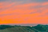 Sand dunes along the north sea coast at sunrise - 229802523