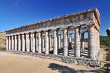 Greek temple of Venus Segesta village Sicily Italy. - 229813970