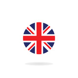 The Union Jack in circle form. Vector icon. National flag of the United Kingdom - 229818932