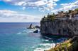 Quadro Beautiful beach at Isola Bella in Taormina, Sicily, Italy.