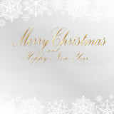 Greeting card with Merry Christmas. Vector illustration - 229833334