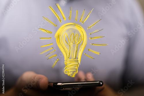 Leinwanddruck Bild lamp idea