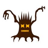 Isolated halloween haunted tree. Vector illustration design