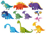 Set of cartoon dinosaurs © brgfx