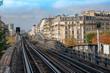 Paris metropolitan open area and typical parisian buildings