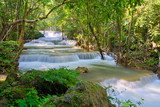 Huai Mae Khamin waterfall at Kanchanaburi , Thailand , beautiful waterfall, forest,  © waranyu