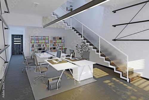 Leinwanddruck Bild modern office interior.
