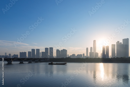 changsha skyline silhouette