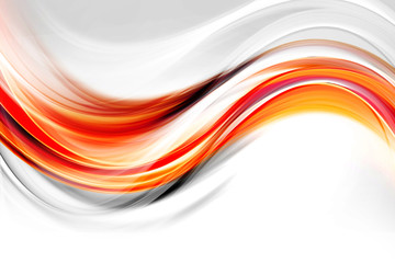 Orange and white lines and waves abstract background