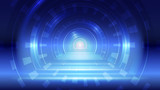 Abstract blue light and shade creative technology background. Vector illustration. - 229890177