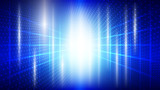 Abstract blue light and shade creative technology background. Vector illustration. - 229890785