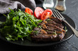 Grilled beef entrecote with vegetables - 229895333